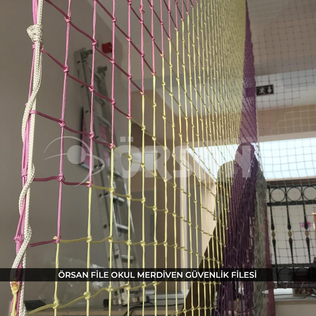 okul merdiven güvenlik ağı