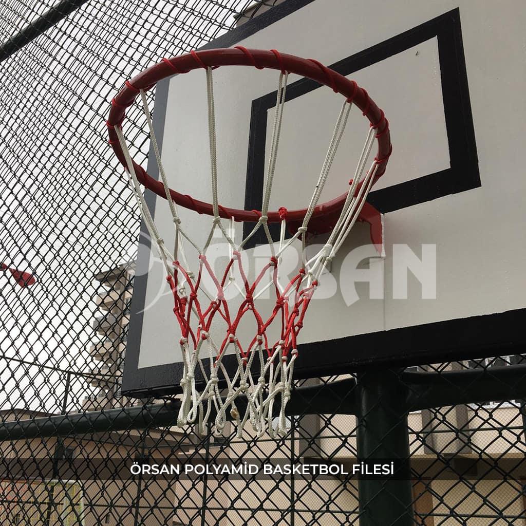 polyamid basketbol filesi